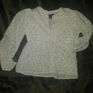 Girls semi sheer long sleeved boho shirt